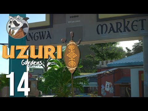 🌴Making a Market | Uzuri Gardens | Let's Play Planet Coaster #14