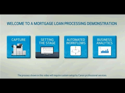 Mortgage Loan Processing Demonstration - YouTube