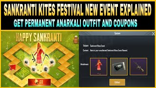 pubg mobile sankranti kites festival new event full explained get permanent anarkali outfit