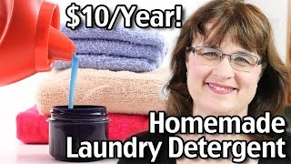 Laundry Detergent For $10 Per Year! How To Make Homemade Laundry Detergent