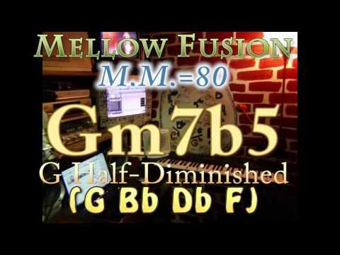 Gm7b5 Half-Dim (G Bb Db F) Mellow Fusion - M.M.=80 - One Chord Vamp