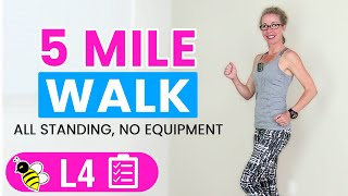 5 Mile WALK   One Hour+ Indoor WALKING Workout for Fast, FUN Weight Loss