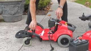 Jazzy Select Traveller Broken Down into Parts (Break down Power Chair)