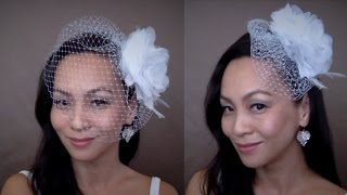"DIY Birdcage Veil 9"" {CHRISTINE} : Two Ways To Style {New Version}"