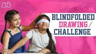 Aadya And Sitara Blindfolded Drawing Challenge | Funny Drawing Challenge | Aadya & Sitara