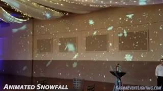 Animated Full Wall Snowfall  Projection Karma Event Lighting