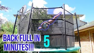 How To Do a BACK FULL on a Trampoline!