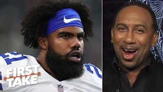 Jerry Jones is trying to agitate Ezekiel Elliott with 'Zeke who?' comment – Stephen A. | First Take