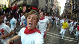 preview picture of video 'Pamplona Bull Run 2012 HD'