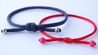 Make A Simple Single Strand Scaffold Knot Sliding Knot Friendship Bracelet - Knot Or Beads Version