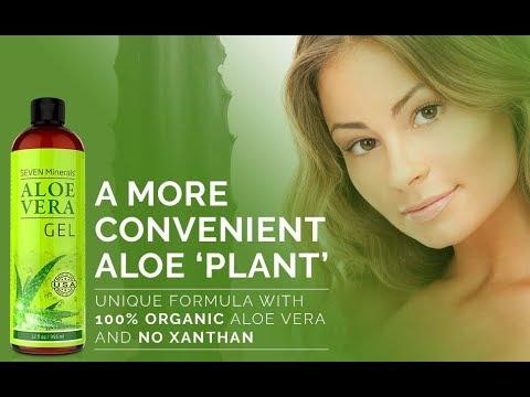 Organic Aloe Vera Gel with 100% Pure Aloe From Freshly Cut Aloe Plant #  | Amazon