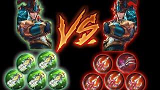 Yun zhao(zilong) full damage  vs Yun zhao full lifesteal - Mobile legends