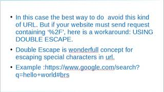 escape special charecters in url part 2  avoiding special character in url