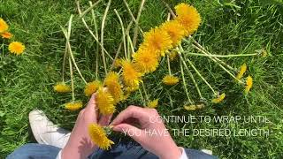 How To Make A Dandelion Flower Crown