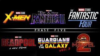 MAJOR PHASE 5 SLATE REVEALS! FULL LINEUP DISCOVERED? X-Men Fantastic Four Deadpool 3!