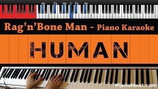 Rag'n'Bone Man   Human   HIGHER Key (Piano Karaoke  Sing Along)