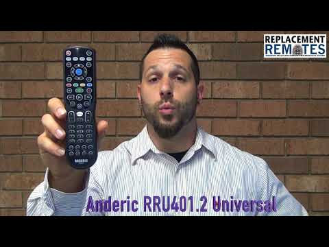 ANDERIC RRU401.2 Advanced Backlit with Learning 4-Device Universal Remote Control