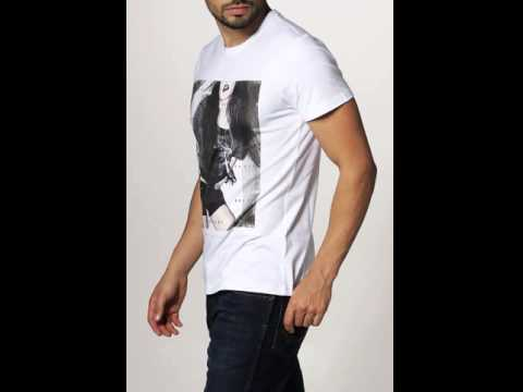 Combinery - One Green Elephant CANDIAC SLIM FIT T-Shirt print white.