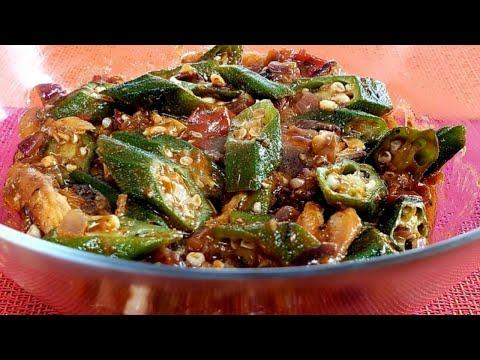 Quick & Easy Sauteed Okra With Sardines