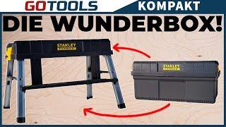 Genial & Einfach ! | Stanley FATMAX Werkzeugbox & Unterstellbock mit unschlagbaren extra Features