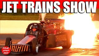 Jet Cars Drag Racing Trains Night Of Fire Lebanon Valley Dragway 2012