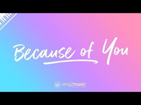 Because of You (Piano Karaoke Instrumental) Kelly Clarkson