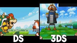 Mario & Luigi: Bowser's Inside Story 3DS vs. DS - Tower of Yikk Giant Battle Comparison