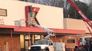 "The ""K"" comes down as Kmart closes"