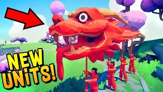 TABS New Secret Units! GIANT SAMURAI, DRAGON, Monkey King, Ninja - Totally Accurate Battle Simulator