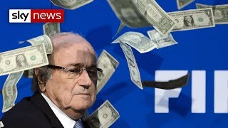 Sepp Blatter Has Money Thrown At Him By Lee Nelson