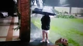 Lightning bolt strikes 12-year-old Argentina boy screams holding umbrella