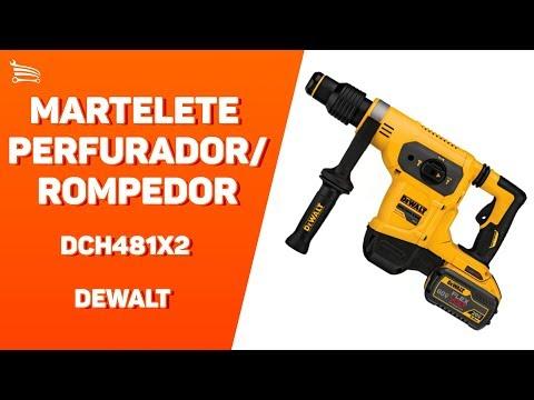 Martelete Perfurador/ Rompedor SDS Max 60V 6,1J  com 2 Baterias e Maleta - Video