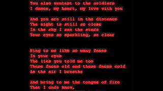 Christian Death - Lament Over The Shadows (Lyrics, HQ Audio)