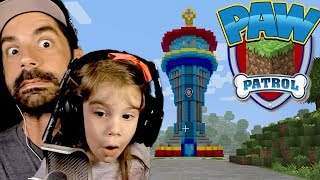 Paw Patrol Minecraft Adventure with My Daughter! :: Finding Tracker!