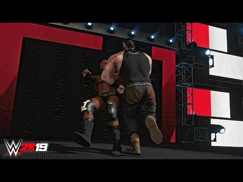 WWE 2K19 - Strowman drives Lashley trough the LED wall | Raw, July 1, 2019