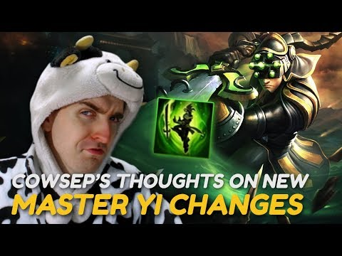 THE NEW MASTER YI CHANGES ARE A NERF! – Cowsep's thoughts on PBE updates