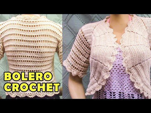 Bolero o Torera tejido a crochet o ganchillo paso a paso, fácil de tejer
