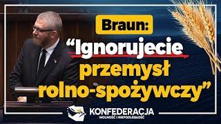 Braun: Prezydium Sejmu powinno naprawić błąd rządu