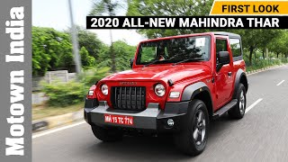 2020 All-new Mahindra Thar SUV | First Look | Freedom Drive | Motown India