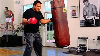 One Of The Last Workouts   Legend Of Boxing Muhammad Ali!!!
