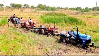 tractors stuck in mud