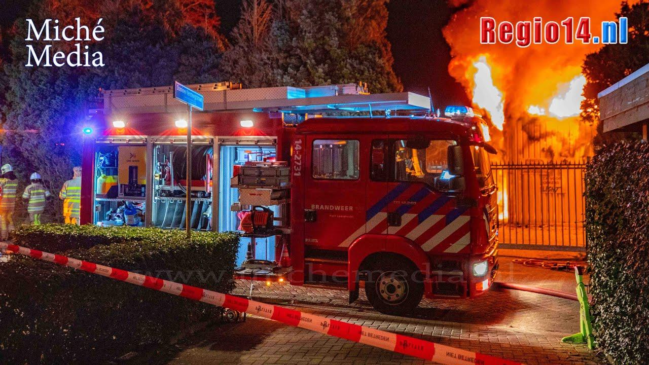 Grote uitslaande brand op Vliegveld Hilversum 🚒🚒🚒