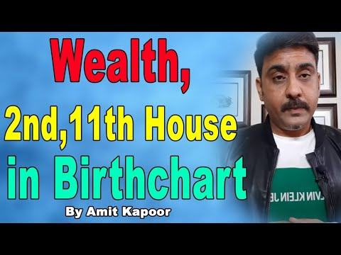 Wealth, 2nd,11th House in Birthchart By #ASTROLOGERAMITKAPOOR