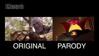 Disney/Pixars AVENGERS: INFINITY WAR Side-By-Side W/ Trailer 2