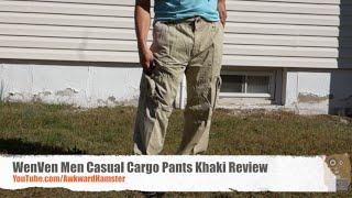 WenVen Men Casual Cargo Pants Khaki Review