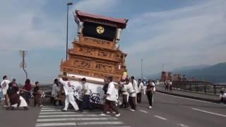 2016西条祭り石岡神社祭礼新兵衛大橋~愛媛県西条市~