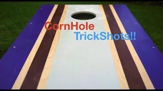 Cole and Logan Cornhole Trick Shots