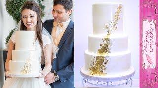 Textured Gold Foil Wedding Cake Tutorial