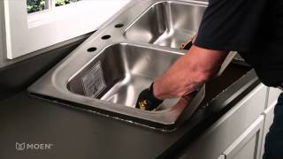 How-to Install a Stainless Steel Drop-In Sink   Moen Installation Video