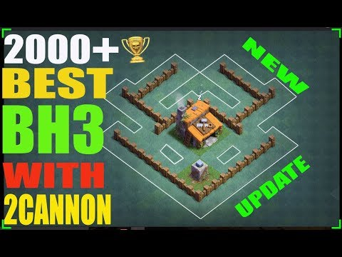 Clash Of Clans | Best Builder Hall 3 Base | BH3 Base Layout With 2 Cannons | New Update Mp3